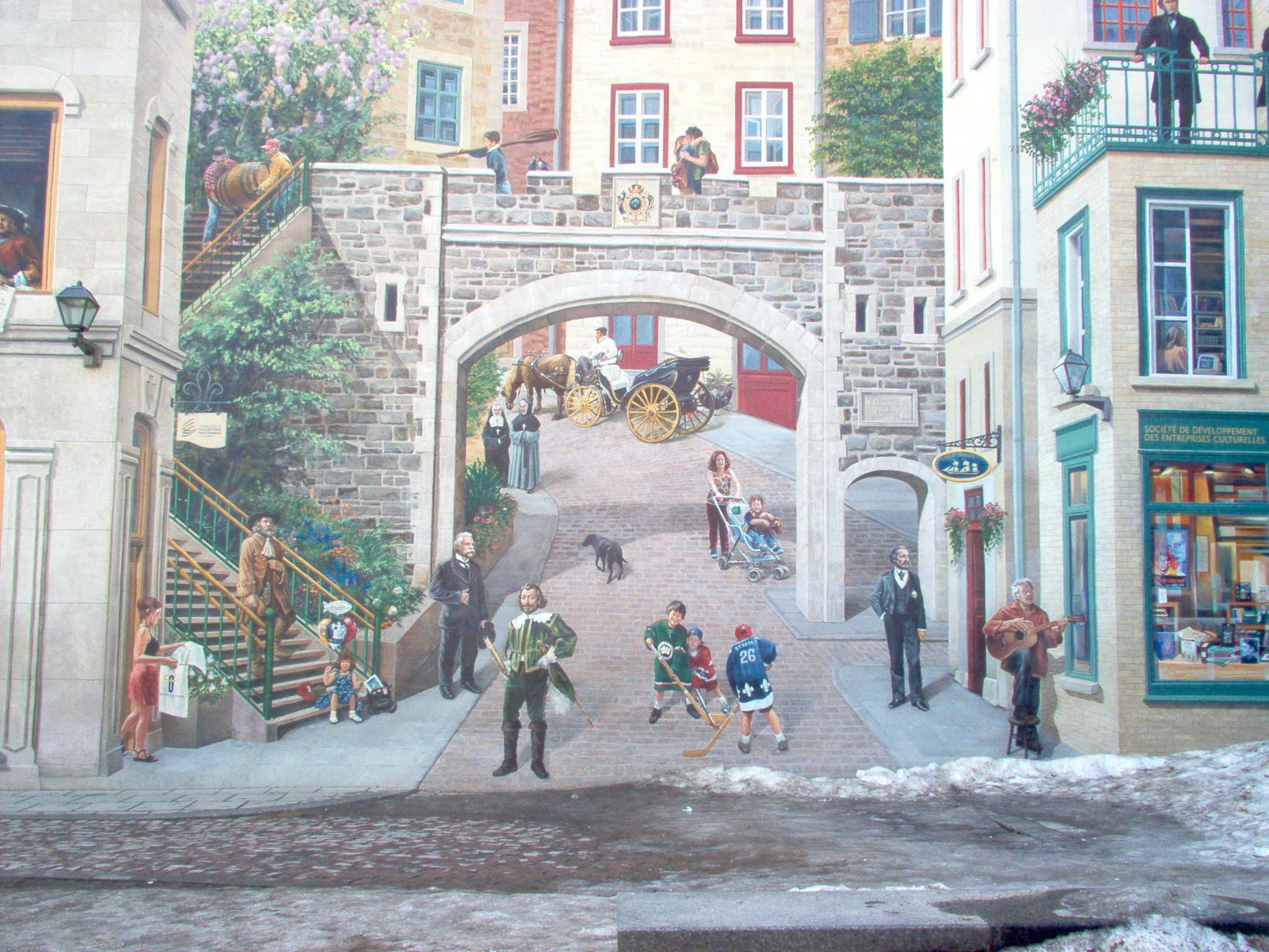 Seinätaidetta tyyliin Quebec